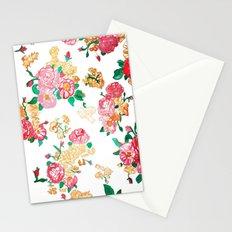 Vintage Rose Wallpaper Stationery Cards