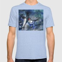 A bird told me... Mens Fitted Tee Tri-Blue SMALL