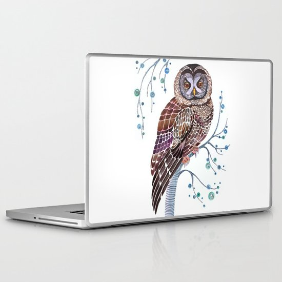 lacy owl Laptop & iPad Skin