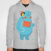 Blue-Monster Piggy-Ride Hoody