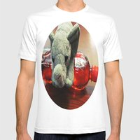 Balancing Act Mens Fitted Tee White SMALL