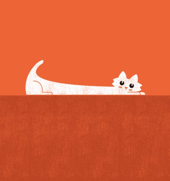 Mark's Superpower: cat Superstretch Art Print