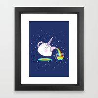 SPACE TEA Framed Art Print