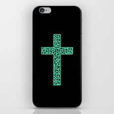 Mint Leopard Cross iPhone & iPod Skin