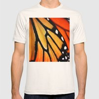 Butterfly Wing Mens Fitted Tee Natural SMALL