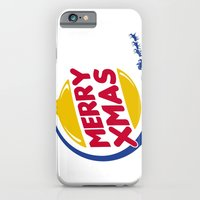 Burger Xmas iPhone 6 Slim Case