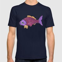 I've Got My Eye On You Mens Fitted Tee Navy SMALL