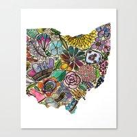 Ohio Floral Canvas Print