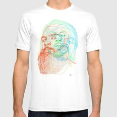The Glorious Dead White Mens Fitted Tee SMALL