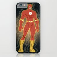iPhone & iPod Case featuring The Flash by The Vector Studio