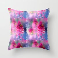Spring floral paint 1 Throw Pillow