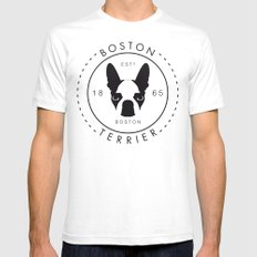 Boston Terrier SMALL Mens Fitted Tee White