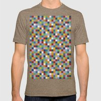Colour Block Mens Fitted Tee Tri-Coffee SMALL