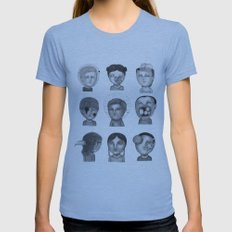 Crazy Heads Womens Fitted Tee Athletic Blue SMALL