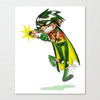 Robin, the Boy Wonder Sketch Canvas Print