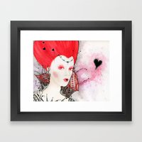 The Queen of Hearts Framed Art Print