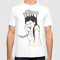 Happy! Mens Fitted Tee White SMALL