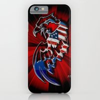 iPhone & iPod Case featuring Patriotic Eagle by Mr D's Abstract Adventures
