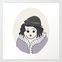 Piaf - La vie en Rose Art Print