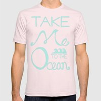 Take me to the Ocean Mens Fitted Tee Light Pink SMALL