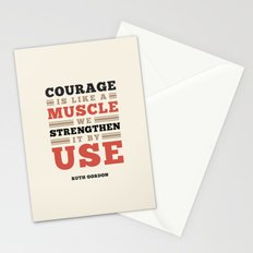 Courage Is Like A Muscle Stationery Cards