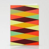 multicolor diamond pattern Stationery Cards