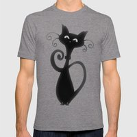 Cat Mens Fitted Tee Tri-Grey SMALL