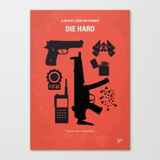 No453 My Die Hard minimal movie poster Canvas Print