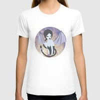 Demon Girl Womens Fitted Tee White SMALL