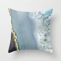 Blue Agate II Throw Pillow
