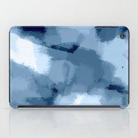 Amaya - navy blue abstract art iPad Case