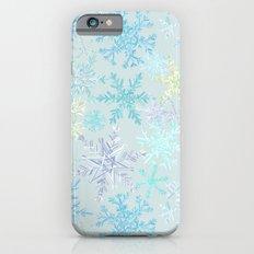 icy snowflakes iPhone 6 Slim Case