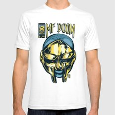 MF Doom Comic Mens Fitted Tee White SMALL