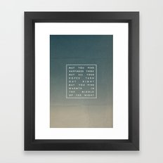 III. Find Happiness Framed Art Print