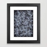 White Drops Framed Art Print
