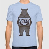 I Need A Hug Mens Fitted Tee Tri-Blue SMALL