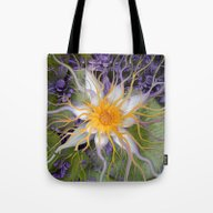 Bali Dream Flower - Purp… Tote Bag