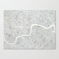 City Map London Watercol… Canvas Print
