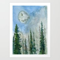 The Endor Morning Sky Art Print