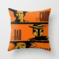 The Good, the bad and the wookiee Throw Pillow