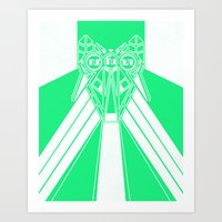 Power Wolf Lite Art Print