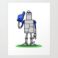 Super Fan Bot Art Print