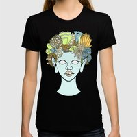 URCHIN Womens Fitted Tee Black SMALL
