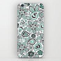 Aqua Paisley iPhone & iPod Skin