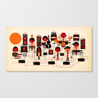 ONJO Live At Luchtbal Canvas Print