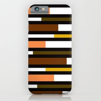 Brown, green, yellow & pink stripes iPhone 6 Slim Case