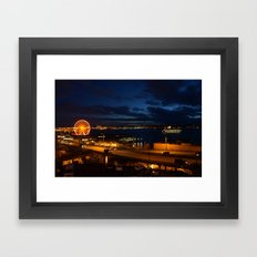 View from Pike's Place market Framed Art Print