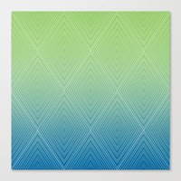 Diamonds (GreenFlashSnor… Canvas Print