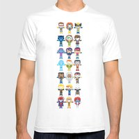 90's 'X-men' Robotics Mens Fitted Tee White SMALL