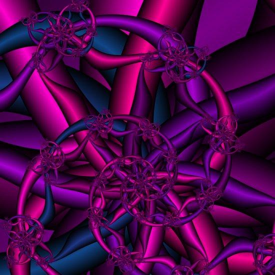 Pink Purple and Blue Art Print
